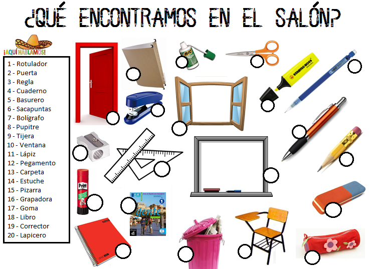 Aqu hablamos qu encontramos en el sal n for 10 objetos del salon de clases en ingles
