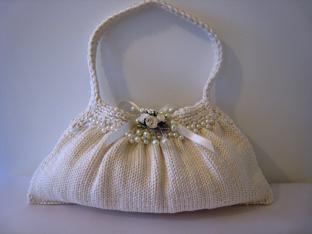 ... Damage Done: Knitting down the Gauntlet: Gloves and Purses for a Bride