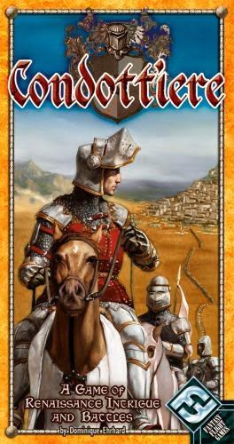 Caja del juego de cartas Condottiere