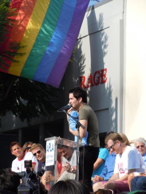 Hal Sparks AIDS Walk LA 2011