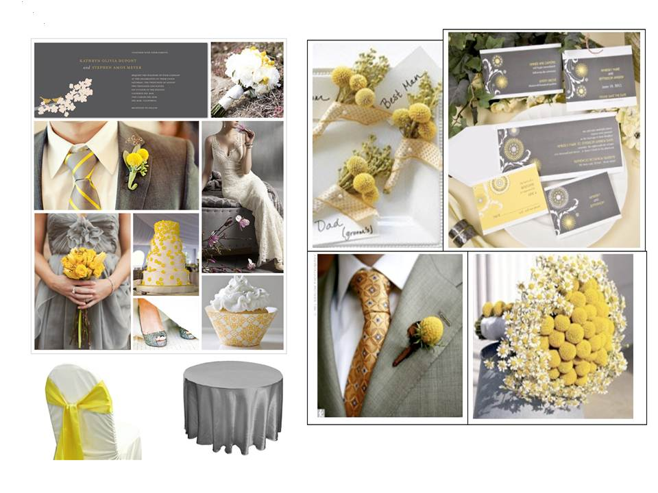 WEDDING IDEAS INSPIRATION FOR 2012 SILVER AND YELLOW