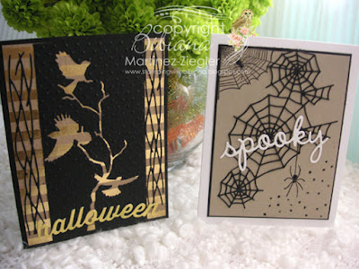 quick and easy halloween cards front