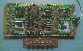 PIC16F88 Digital Clock in dot board