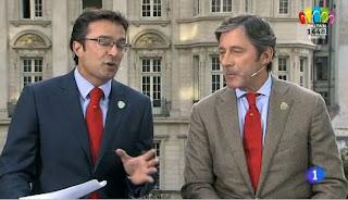 Marcos López y Jesús Álvarez en el Telediario