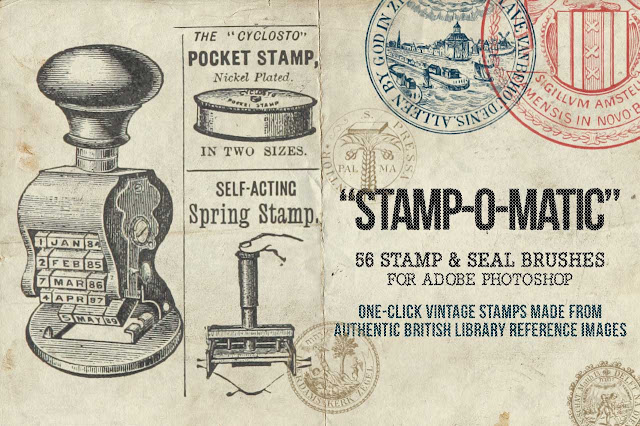 Stamp-O-Matic – Vintage Photoshop Seal and Stamp Brushes