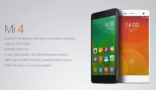 Spesifikasi Xiaomi Mi4 dan Review Harga Xiaomi Mi4