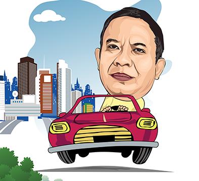 Karikatur Pa Dirut SATELIT NEWS yang santai dengan mobil lucunya ...