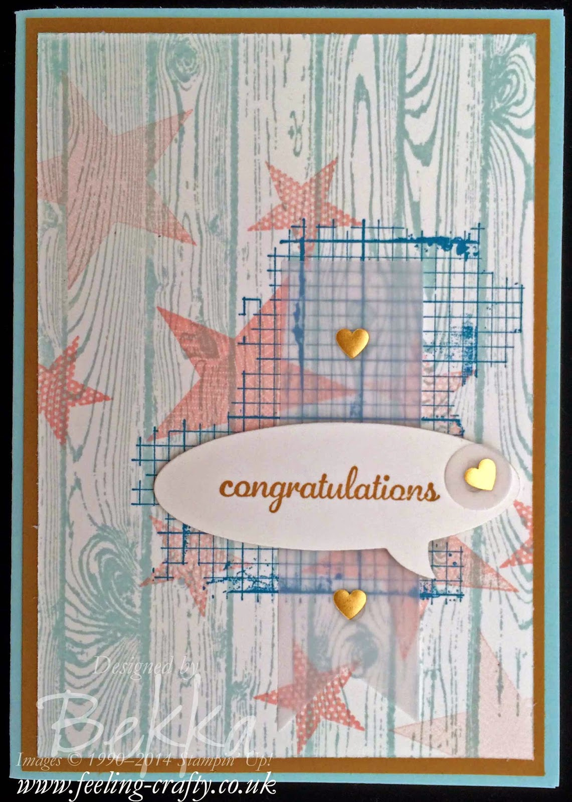 Congratulations Card made with Stampin' Up! Supplies which you can get here