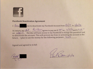Dad Bribes Teenage Daughter $200 To Deactivate Facebook Account
