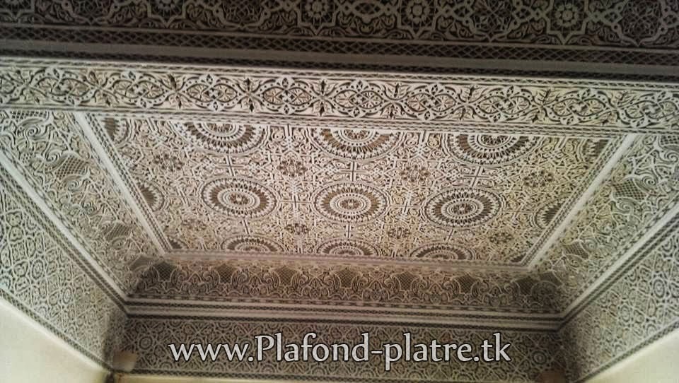 plafond marocain sculpt adorable faux plafond platre suspendu et tendu. Black Bedroom Furniture Sets. Home Design Ideas
