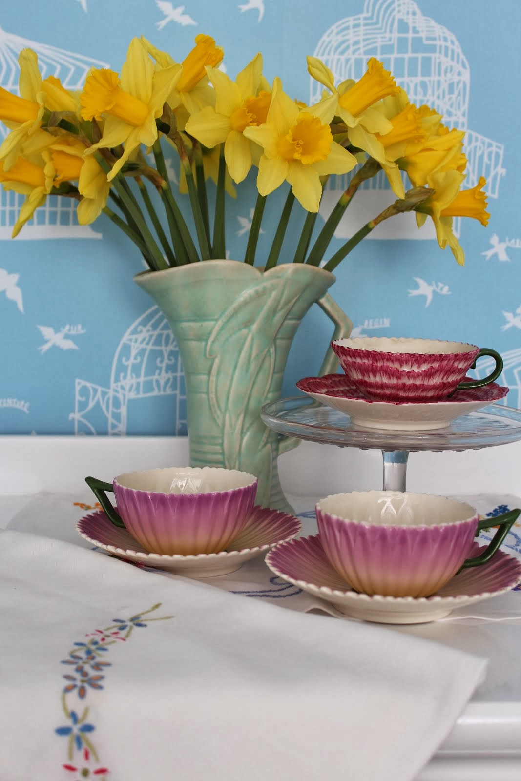 Laura Ashley Cups and Saucers