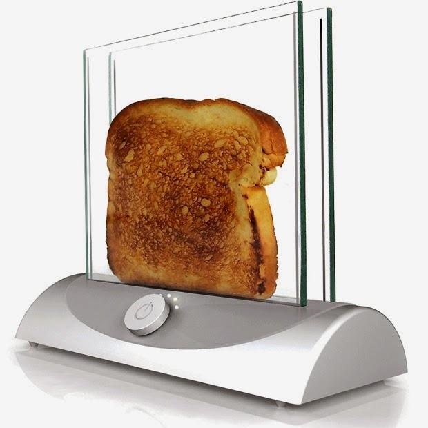 Você nunca mais queimará seu pão com está torradeira transparente.