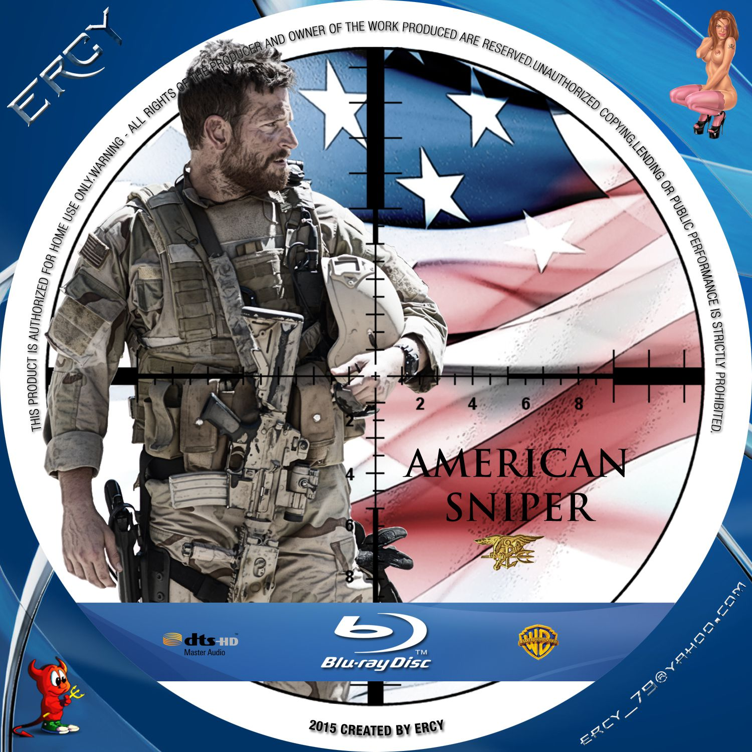 Label Bluray American Sniper