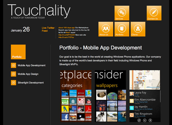 Touchality: Best metro UI website