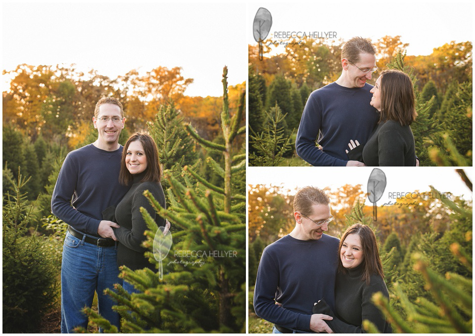 Delightful Christmas Tree Farm Mini Sessions | Rebecca Hellyer Photography | Chicago  Family Photographer