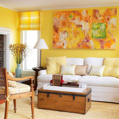 Decoração da Sala em Amarelo