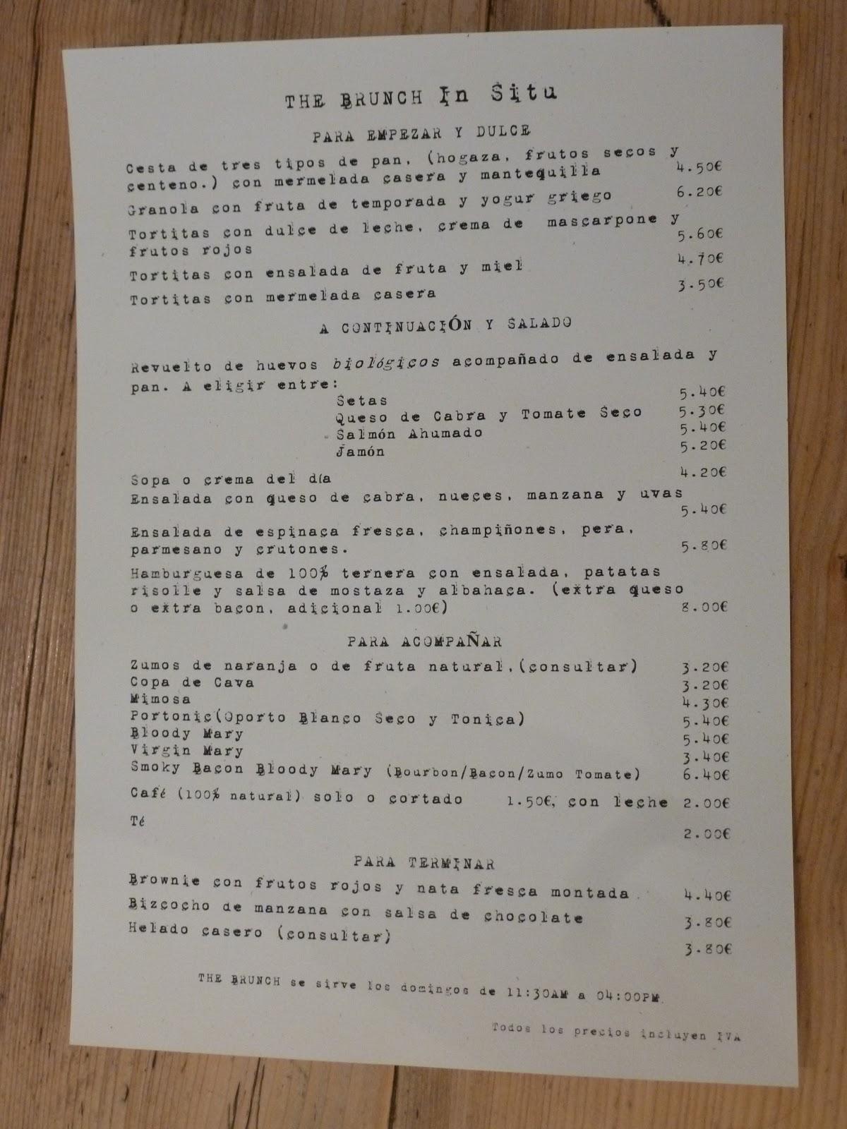 Brunch de in situ la recomendadora gastronom a viajes - El jardin secreto restaurante madrid ...