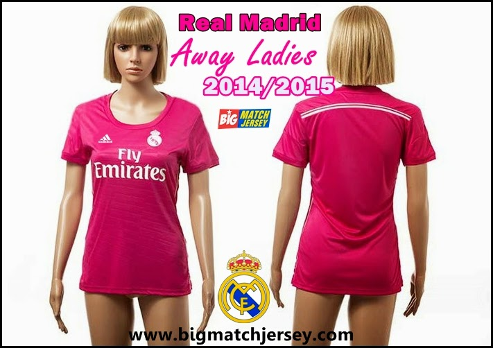 New arrival 2014-2015 real Madrid away pink women's