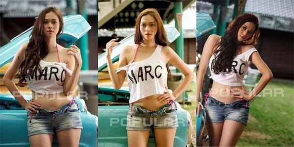 Foto Pose Hot Aura Kasih Di Majalah Popular Paling Seksi