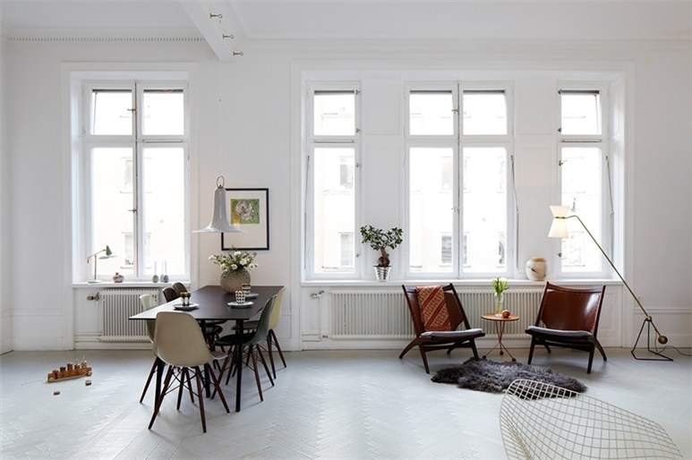 Seventeendoors minimalism at hantverkargatan - Deco appartement vintage ...
