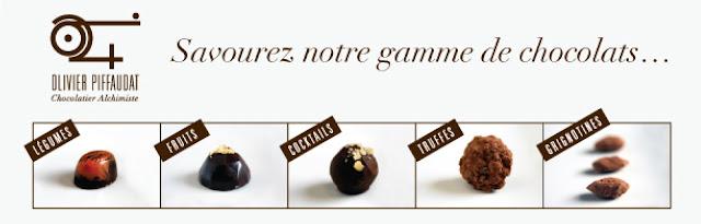 Gamme Olivier Piffaudta chocolatier alchimiste