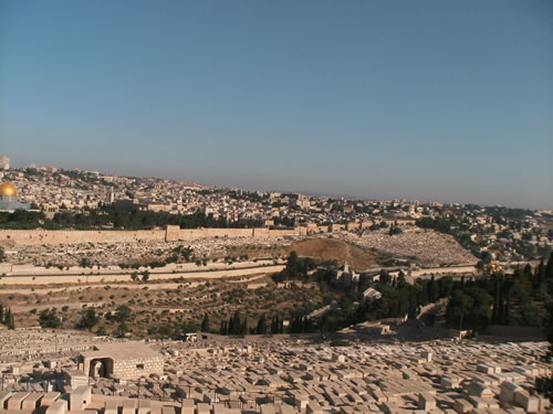 Jewish graves at Mount Olive.