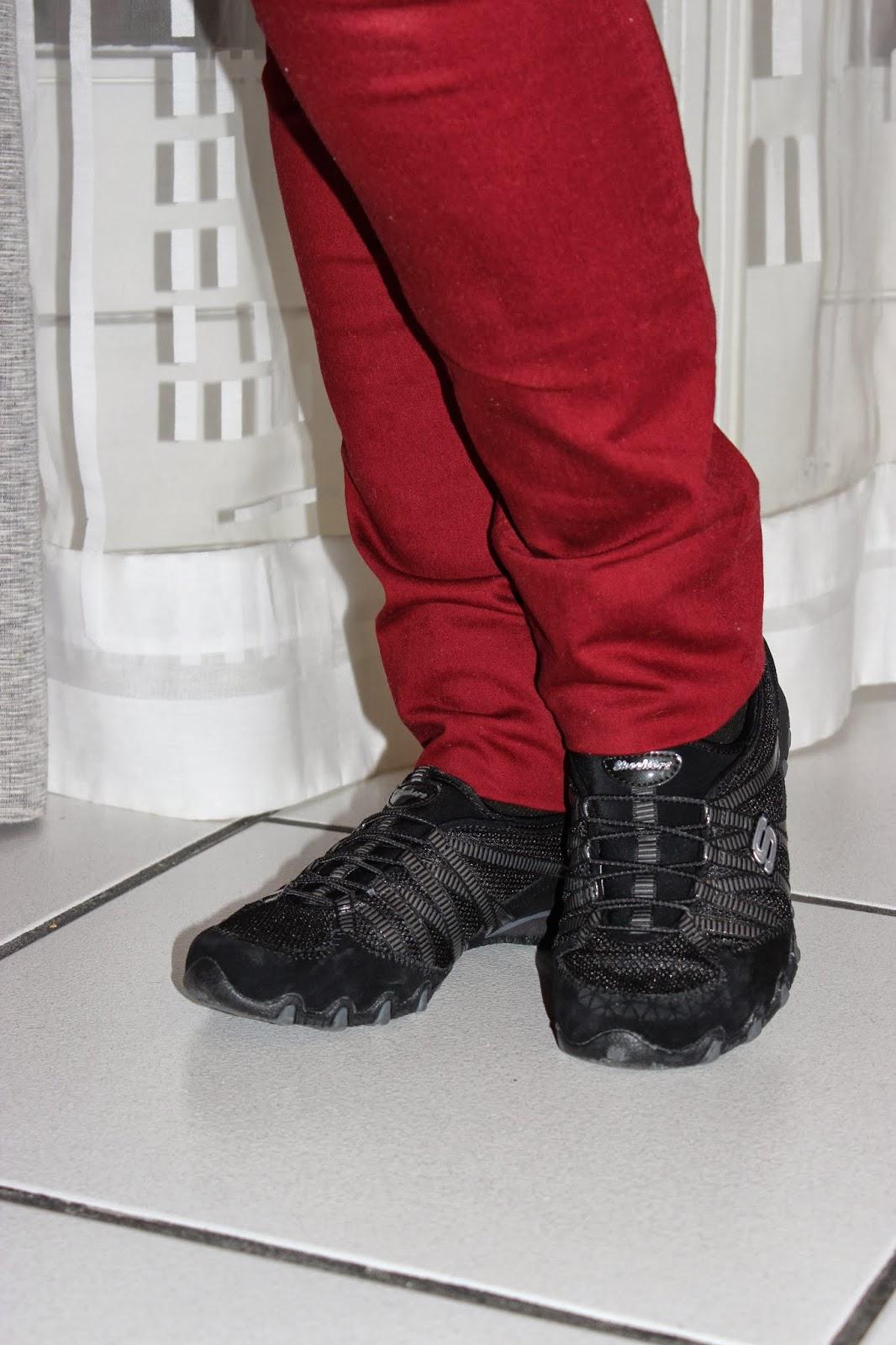 Jeans salsa jean, baskets noires skechers