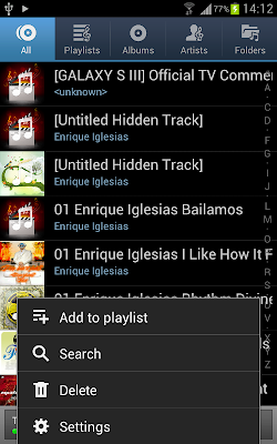 music player ics 4.0.4 samsung galaxy note