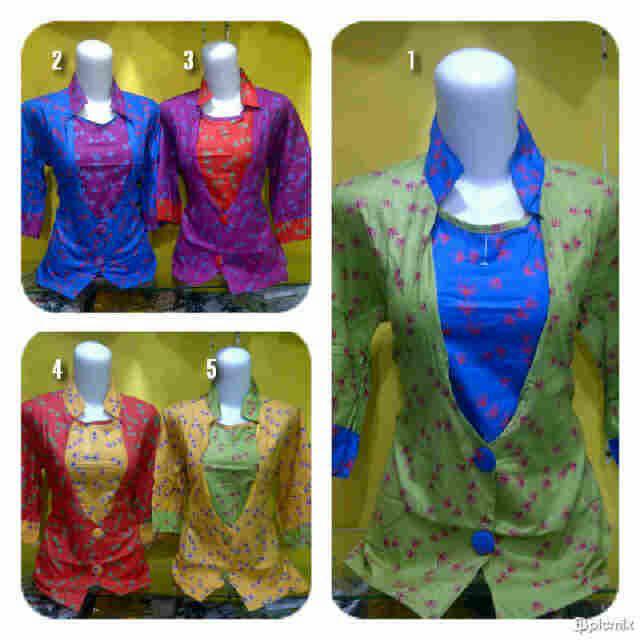 20 Model Baju Batik Kombinasi Bolero Modern Terbaru 2016