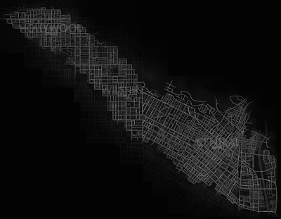 The in-game map of the city, showing how big the area you can explore is.