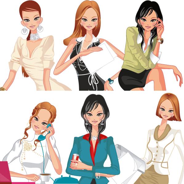 Mujer trabajadora Negocios - vector | Vector Clipart