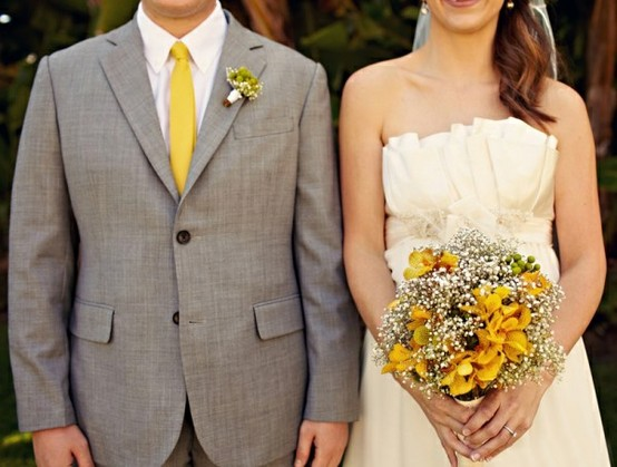 Wedding Wednesday Inspiration Yellow Grey