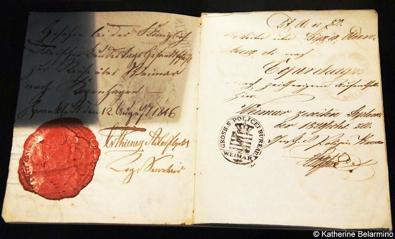 Hans Christian Andersen's Passport Odense Denmark