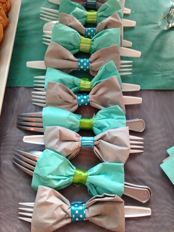 Decoración servilletas para niños en bodas