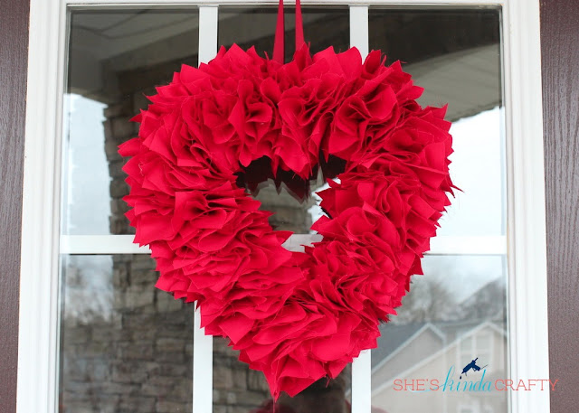 Red Fabric Wreath