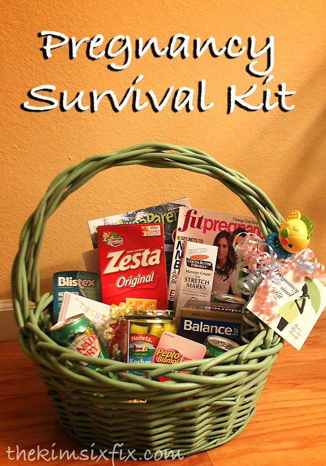 Baby Gifts For Expecting Mothers : Pregnancy survival kit mom to be gift basket the kim