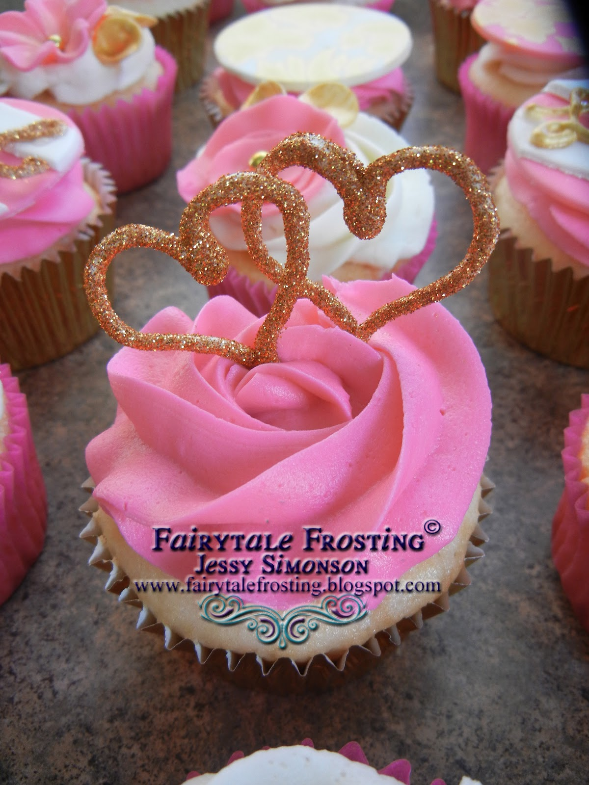 Fairytale Frosting Pink And Gold Bridal Shower