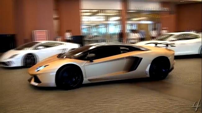 Video Matte Gold Oakley Design Lamborghini Aventador Spotted In Dubai