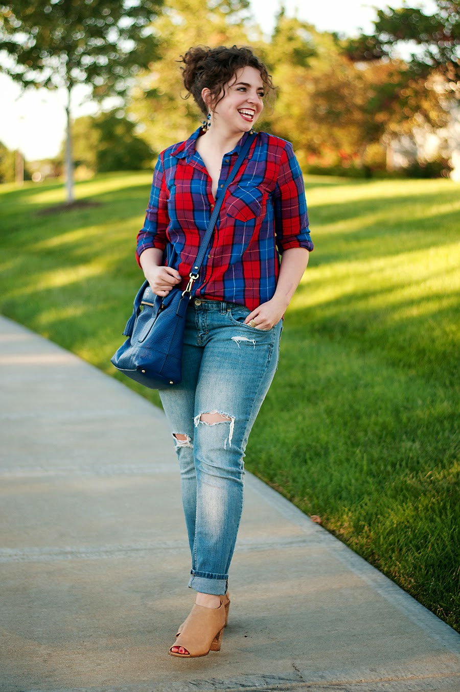 Plaid fall outfit idea