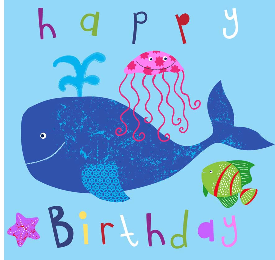 Doodles and designs happy birthday lois a little card to wish my gorgeous girl a very happy 8th birthday she loves anything to do with the sea and fish x bookmarktalkfo Gallery