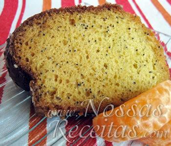 receita de bolo preparado com tangerina.