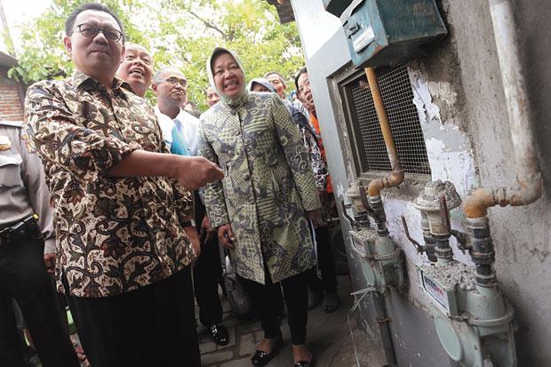 Surabaya Percepat Pembangunan Jaringan Gas Bumi