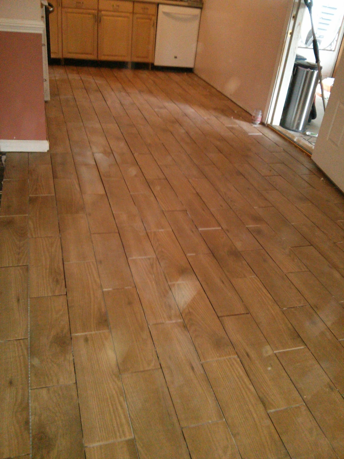 Floor Installation Wood Look Porcelain Tile Levittown