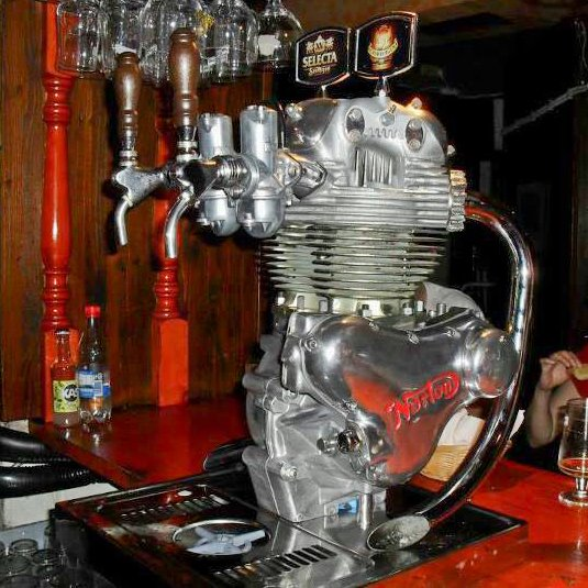 INTERESTING MOTORCYCLE ENGINE BEER KEGS   MADE OUT OF MOTORCYCLE ENGINES