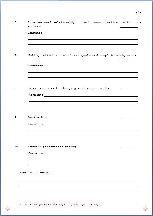 Doc461521 Employee Forms Templates 10 images about Employee – Employee Feedback Forms
