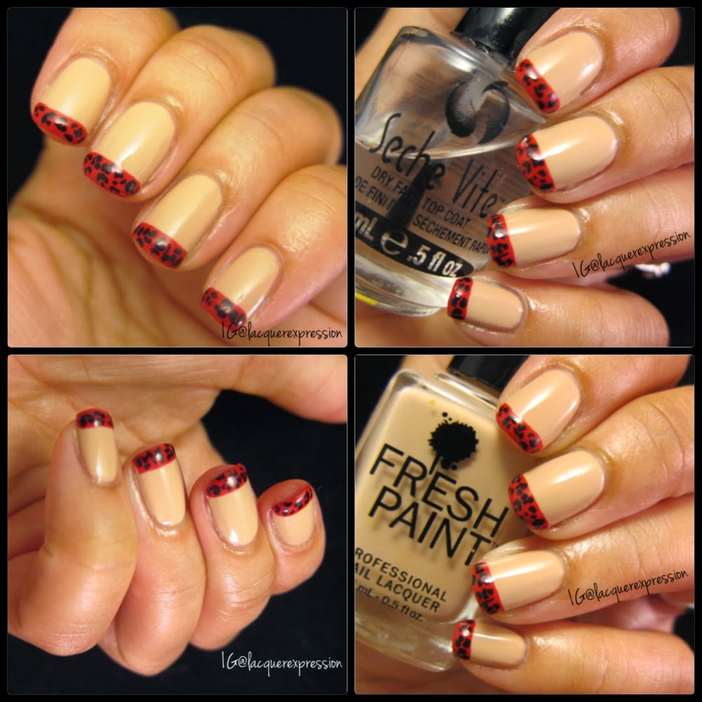 Nail Art French Tips Manicure Challenge Lacquerexpression
