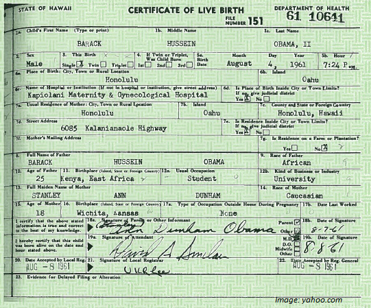 no birth certificate obama. no birth certificate obama.