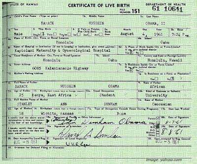 barack obama birth certificate