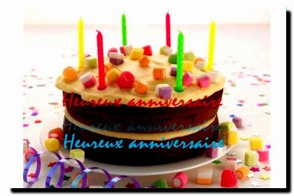 Une carte joyeux anniversaire facebook