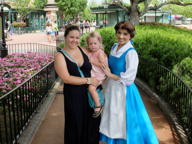 Meeting Princess Belle at Disney World